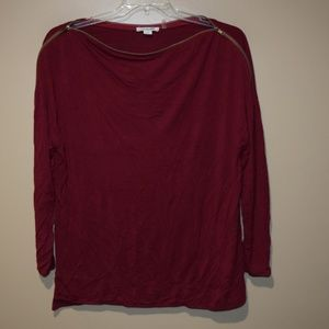 SIMPLY NOELLE Women's Sz S/M (8-10) Zippered Top